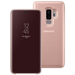 Official Samsung Galaxy S9 Plus Clear View Standing Cover Case - Gold
