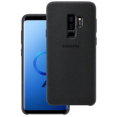Official Samsung Galaxy S9 Plus Alcantara Cover Case - Schwarz