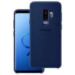 Official Samsung Galaxy S9 Plus Alcantara Cover Case - Blau