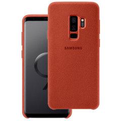 Official Samsung Galaxy S9 Plus Alcantara Cover Case - Rot