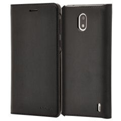 Prestigious protection and luxurious classic style. Protect your Nokia 2's back, sides and screen from harm while keeping your most vital card close to hand with the official leather flip wallet cover in black from Nokia.