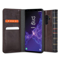 Olixar X-Tome Leather-Style Samsung Galaxy S9 Plus Book Case - Brown