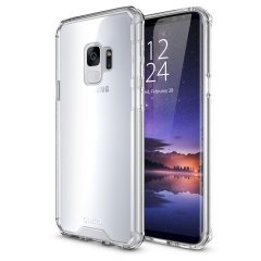 Custom moulded for the Samsung Galaxy S9. This clear Olixar ExoShield tough case provides a slim fitting stylish design and reinforced corner shock protection against damage, keeping your device looking great at all times.