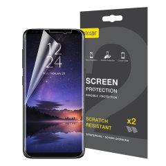 Schützen sie Ihr Samsung Galaxy S9 Plus Displayschutz mit dem 2-in-1 Pack von Olixar, dass Ihr Handy garantiert vor Kratzern und anderen Schäden schützt.