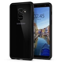 Protect your Samsung Galaxy A8 2018 with the unique Ultra Hybrid black bumper from Spigen. Complete with a clear back and air cushion technology to show off and protect your Galaxy A8 2018's sleek, modern design.