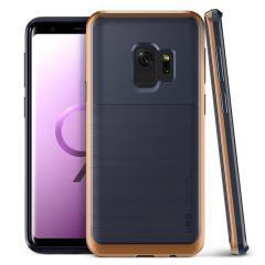 VRS Design High Pro Shield Samsung Galaxy S9 Case - Indigo bloost goud