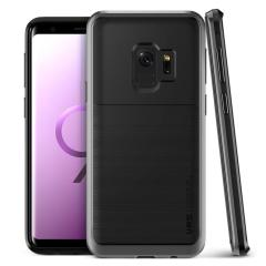 VRS Design High Pro Shield Samsung Galaxy S9 Case - Staal Zilver