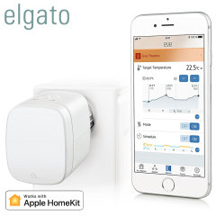 Take complete control of heating your home and save energy with the Elgato Eve Thermo. Compatible with Apple HomeKit, you can set up this smart heating system to follow a schedule, turn off when nobody's home and even activate your heating with Siri.