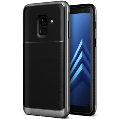 VRS Design High Pro Shield Galaxy A8 2018 Hülle  - Stahl Silber