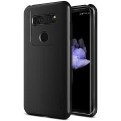 Protect your LG V30 with this precisely designed high pro shield series case in Metallic Black from VRS Design. Made with tough dual-layered yet slim material, this hardshell body with a sleek bumper features an attractive metallic black finish.