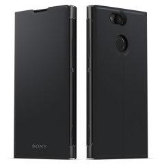 Cette superbe housse officielle Sony Xperia XA2 Style Cover avec support de visionnage en coloris noir vous permet de protéger avec élégance votre smartphone. D'excellente qualité et très fonctionnelle, elle intègre un rabat protecteur pouvant se transformer en un instant en support de visionnage.