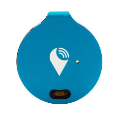 Keep your phone, wallet, keys and bag safe by your side in the secure knowledge you will hear an audible alarm if you stray too far away from your device or someone removes your valuables with the TrackR Phone and Valuables Bluetooth Locator in Blue.