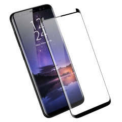 Olixar Galaxy S9 Plus Case Compatible Glass Skärmskydd - Svart