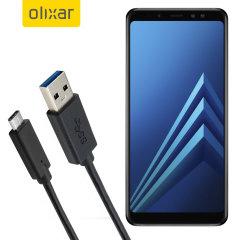 Stellen Sie sicher, dass Ihr Samsung Galaxy A8 Plus 2018 immer vollständig aufgeladen und mit diesem kompatiblen USB 3.1 Typ-C-Stecker auf USB 3.0-Steckerkabel synchronisiert ist. Sie können dieses Kabel mit einem USB-Ladegerät oder über Ihren Desktop oder Laptop verwenden