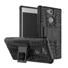Protégez votre Sony Xperia XA2 des chocs et des éraflures grâce à cette coque Olixar ArmourDillo en coloris noir. Cette coque est composée d'un boîtier interne en TPU et d'un exosquelette externe résistant aux impacts. Elle comprend par ailleurs un support de visualisation intégré.