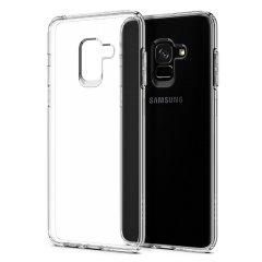Spigen Liquid Crystal Samsung Galaxy A8 2018 Skal - Klar