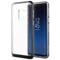 VRS Design Crystal Bumper Samsung Galaxy S9 Case - Metaal Zwart