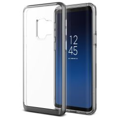 VRS Design Crystal Bumper Samsung Galaxy S9 Case - Staal Zilver