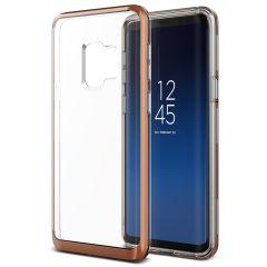 VRS Design Crystal Bumper Samsung Galaxy S9 Case - Bloos Goud