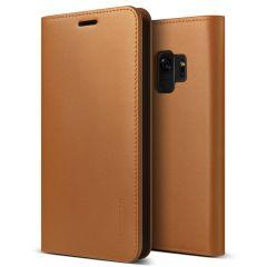 VRS Design echt leder Samsung Galaxy S9 Wallet-Case - Bruin