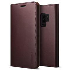 VRS Design echt leder Samsung Galaxy S9 Plus Wallet-Case - Wijn