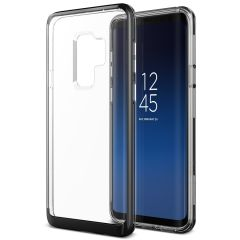 VRS Design Crystal Bumper Samsung Galaxy S9 Plus Case - Metaal Zwart