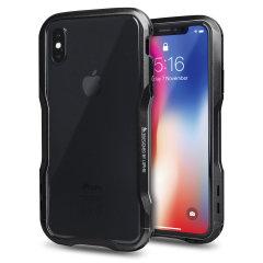 Luphie Incisive iPhone X Aluminium Metall Stoßhülle– Schwarz
