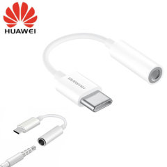 Official Huawei CM20 USB Type-C To 3.5mm Audio Adapter - White
