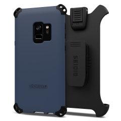 Seidio Dilex Combo Galaxy S9 Halfter Hülle - Mitternachtsblau