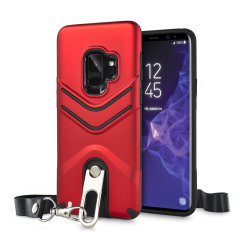 Olixar Vulcan Samsung Galaxy S9 Lanyard Tough Case - Red