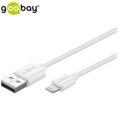 Make sure your Lightning devices are always fully charged with the Goobay MFi Lightning Cable to USB Cable in white for Apple Lightning compatible devices. This cable is certified MFi by Apple for use with their products. 3 Metre length.