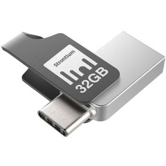 Backup, store and share your favourite photos, videos and music between USB Type-C and standard USB devices with the 32GB Strontium OTG USB Type C Flash Drive.