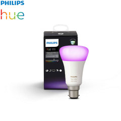Add to your existing Philips Hue setup with this official Philips white and colour LED bulb with a B22 fitting. With easy application and full integration with Philips Hue systems, you can brighten up any room and set the lighting to suit your needs.