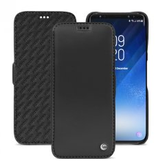 Noreve Tradition D Samsung Galaxy S9 Leather Flip Case - Black