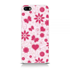 Call Candy iPhone 5 / 5S / SE Hard Case -  Floral Flower Girl
