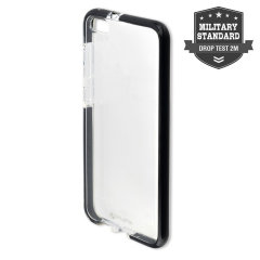Protect your Huawei P10 with this unique bumper-style black and clear AIRY-SHIELD from 4smarts, featuring certified shock protection according to MIL-STD-810G 516.6.
