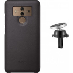 Official Mate 10 Pro Magnetic Car Mount & Protective Case - Brown