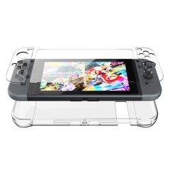 Nintendo Switch Hard Cover Case & Screen Protector - Clear