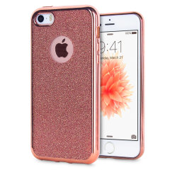 Rose Gold iPhone SE Case - Glitter