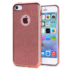 Rose Gold iPhone 5 Case - Glitter