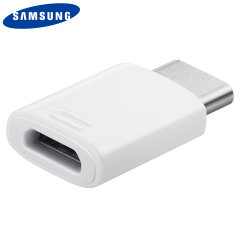 Official Samsung Galaxy S9 Plus Mikro USB bis USB-C Adapter - Weiß