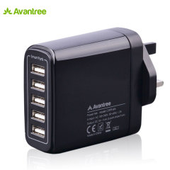 Avantree Power Trek 5 USB Mains Charger - Black