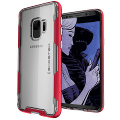 Ghostek Cloak 3 Samsung Galaxy S9 Tough Case - Clear / Red