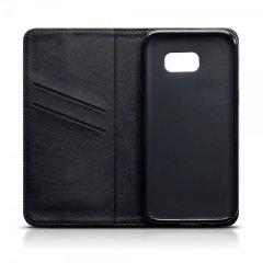 Genuine Leather Samsung Galaxy A5 2017 Wallet Case - Black