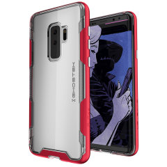 Ghostek Cloak 3 Samsung Galaxy S9 Plus Tough Case - Clear / Red