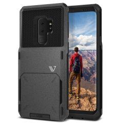 VRS Design Damda Folder Samsung Galaxy S9 Plus V-Pro Case - Stone Grey