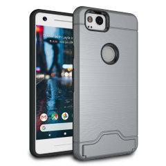 Google Pixel 2 Armour Kickstand Case - Grey