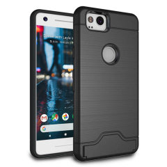 The Armour Kickstand case in black provides your Google Pixel 2 with fantastic protection. Also featuring a storage slot for your credit card or ID.