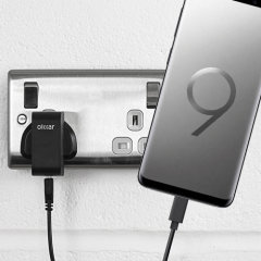 Charge your Samsung Galaxy S9 Plus and any other USB device quickly and conveniently with this compatible 2.5A high power USB-C UK charging kit. Featuring a UK wall adapter and USB-C cable.