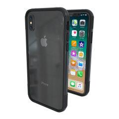 ThanoTech K11 iPhone X Aluminium Stoßfänger Hülle - Weltraum grau